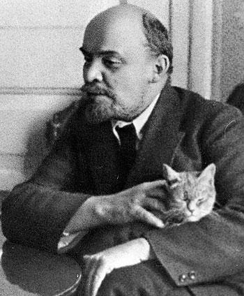 Lenin and cat