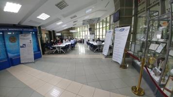An impressive awards cabinet plus admissions information, International IT University, Almaty, Kazakhstan