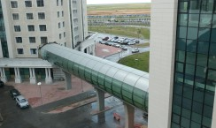 Forgot to winter proof your university? No problem, add a tunnel. Nazarbayev University, Astana, Kazakhstan