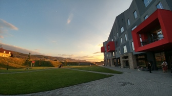 Sunset at the American University of Central Asia, Bishkek, Kyrgyzstan