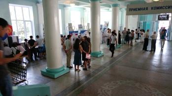 Admissions season, Kyrgyz State Technical University, Bishkek, Kyrgyzstan