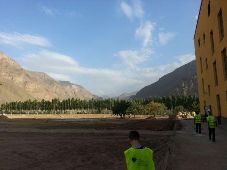 Construction site, University of Central Asia, Khorog, Tajikistan