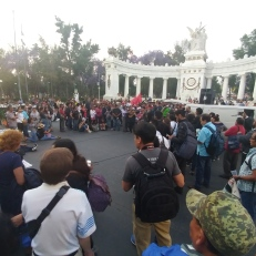 Socialists demonstrating in Alameda Central