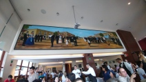 Mural at El Cardinal restaurant