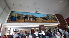 Mural at El Cardinal restaurant