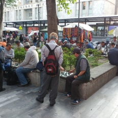 Chess players in CDMX
