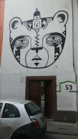 Street art in Roma Norte