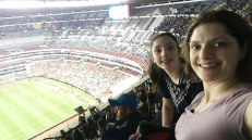 View from the top of the Estadio Azteca, where Club America beat local rivals Cruz Azul 2-1