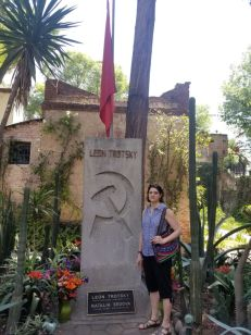 Trotsky is buried in the (beautiful) grounds of his final home in Mexico