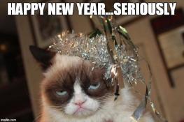 Happy new year grumpy cat